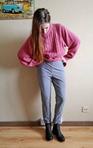 Moje první kalhoty podle střihu z Burdy
