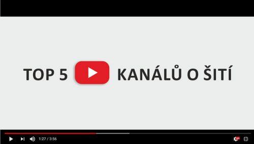 Mých TOP 5 Youtube kanálů o šití