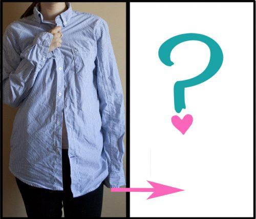 Refashion: Jednoduchá sukně z pánské košile